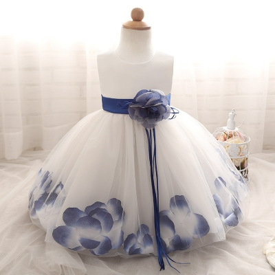 2018 Baby Girl Wedding Veil Dresses Kids's Party Wear Costume For Girl Children Clothing #08 xl