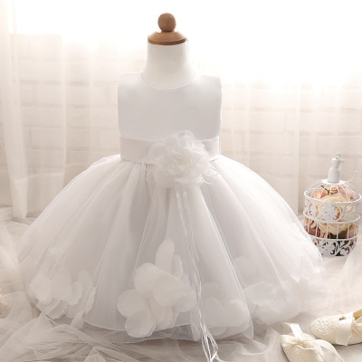 2018 Baby Girl Wedding Veil Dresses Kids's Party Wear Costume For Girl Children Clothing #09 m