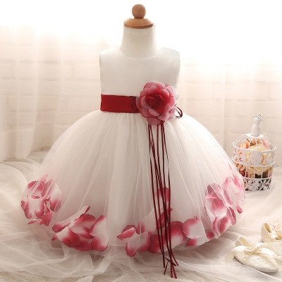 2018 Baby Girl Wedding Veil Dresses Kids's Party Wear Costume For Girl Children Clothing #10 130cm