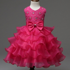 Girl Dress Summer Floral Baby Girls Dress Vestidos Wedding Party Baby Clothes Birthdays Clothing #06 70cm