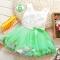 2018 Summer Baby Girl Dress Kids Baby Girls Clothing Dresses Beautiful Flower Dress green 12
