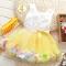 2018 Summer Baby Girl Dress Kids Baby Girls Clothing Dresses Beautiful Flower Dress yellow 10