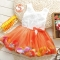 2018 Summer Baby Girl Dress Kids Baby Girls Clothing Dresses Beautiful Flower Dress orange 6