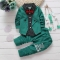 2019 Baby Boys Autumn Casual Clothing Set Baby Kids Button Letter Bow Clothing Sets green 100cm