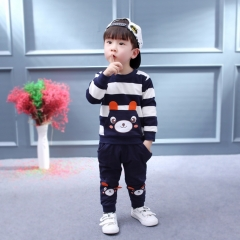 Bear Kids Clothes Baby Clothing Set Toddler Boy Clothing Boutique Children Kids Boys Costume suits black 90cm