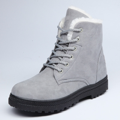 2017 new arrival women winter boots warm snow boots fashion platform shoes women ankle boots grey uk4.5