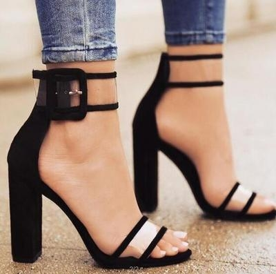cbc6c968d622 ... Heels Shoes Sexy Transparent Ankle Sandals for Ladies black uk3   Product No  1081373. Item specifics  Seller SKU h176  Brand