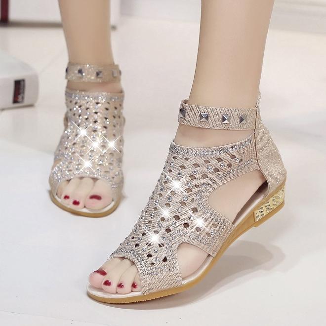 96ad0bd4d ... Sandal Woman Crystal Sandalias Bling Wedges Summer Shoes beige 38   Product No  1081688. Item specifics  Seller SKU h181  Brand