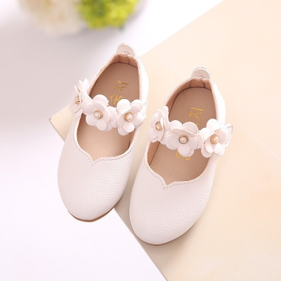 2018 New Spring Children Shoes for Girls Flower Kids Casual Sneakers Baby Toddler Shoes white 21