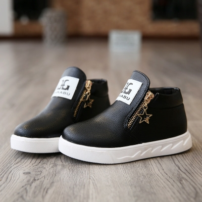 2018 Hot fashion Martin australia boots single low short botas kids baby nina boys autumn shoes black 26