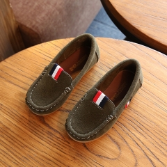 2017 Kids Boys PU Leather Shoes Kids Moccasin Loafers Toddlers Casual Single Flats Sneakers army green 21