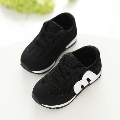 children spring autumn girls boys kids mesh sneakers flat baby breathable sport shoes black 27