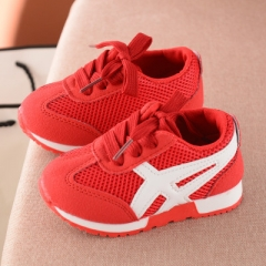 2019 New kids Sneakers casual spring autumn Breathable Girls Boys Sport flat casual Shoes red 21