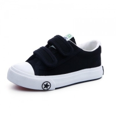 2017 Children shoes girls kids canvas shoes baby Spring autumn white sneaker cotton-made baby shoes black 29