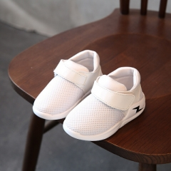 Casual Children Shoes Autumn Breathable Mesh Fashion Lightning Kids Sneakers For Boys Girls Shoes white 23