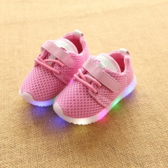 New Children Shoes With Light Led Kids Shoes Luminous Glowing Sneakers Baby Toddler Boys Girls Shoes pink 22
