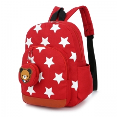 Children Bags for Boys Kindergarten Nylon Children School Bags Printing Baby Girl School Backpack red