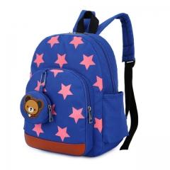 Children Bags for Boys Kindergarten Nylon Children School Bags Printing Baby Girl School Backpack blue