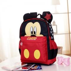 New Cartoon Mickey children backpacks Minnie kids kindergarten backpack school bags red