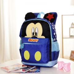 New Cartoon Mickey children backpacks Minnie kids kindergarten backpack school bags dark blue