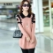 Collar sweater dress women pullover medium-long print basic slim ropa mujer wool cashmere sweater pink s