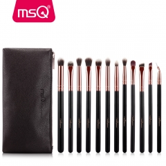 12pcs Eyeshadow Makeup Brushes Set Pro Rose Gold Eye Shadow Blending Make Up Brushes as picture