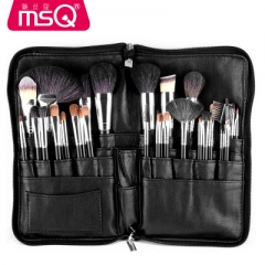 32pcs Hot Foundation eye shadow makeup brush PU High capacity zipper Pockets set makeup tool as picture