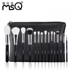 15Pcs Makeup Brushes Set Pro Powder Blush Foundation Eyeshadow Eyeliner Lip Gold Cosmetic Brush as picture