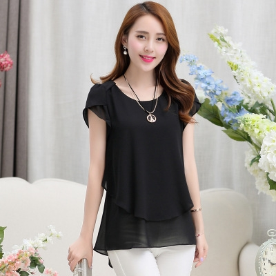 3bbbded397f 2017 Womens Short Sleeve Chiffon Blouse Peplum Summer Tops Ladies Long  Office Shirts black 3xl  Product No  1142939. Item specifics  Seller  SKU h434  Brand