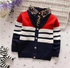 Casual boys open stitch sweater kids autumn winter wear underwear children cheap clothes red 90cm