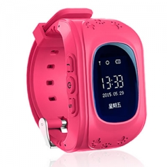 GPS Smart Kid Safe smart Watch SOS Call Location Finder Locator Tracker for Child Anti Wristwatch pink one size