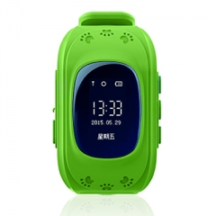 GPS Smart Kid Safe smart Watch SOS Call Location Finder Locator Tracker for Child Anti Wristwatch green one size