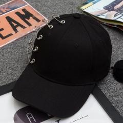 Fashion Korean pop Male Ms. sun Hat 3 Colors pin bent Sub Benn brimmed Hat Baseball Cap Snapback black