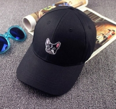 Hot Shipping Puppy Pattern Pure Korean tidal Ms. male hip-hop cap baseball cap flat-brimmed hats black