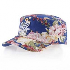 f682bff2575 Fashion watercolor flowers embroidery Ms. madam lady girl women love Baseball  cap dark blue