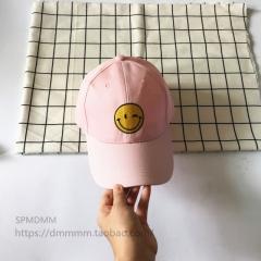 Hot Soft Korean Baseball Cap Embroidery Face Ms.summer Curved Eaves Harajuku Wind Duck Tongue Hat pink