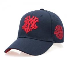 Fashion summer baseball cap Ms. sun hat letter autumn leisure hip-hop cap Golf men peaked cap dark blue