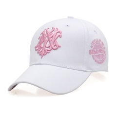 Fashion summer baseball cap Ms. sun hat letter autumn leisure hip-hop cap Golf men peaked cap white