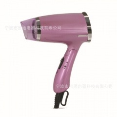 Foldable Hair Tools 1200W Security Household High-power Hair Dryer ABS for Hotel Electric Blower purple normal