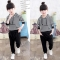 Hot Children Sports Suit Girls Clothes Tracksuit Kids Clothes  Outfit Toddler Girl Clothing Sets black 90cm