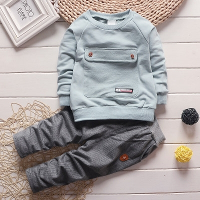 166687c61 Fashion letter baby Boy Kid Autumn Winter Suit Fall Cotton sport ...