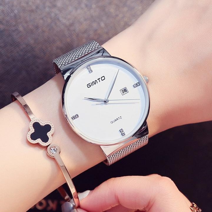 Women Watches Elegant Minimalism Rhinestone Casual Black Female Waterproof Clock silver one size