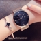 Women Watches Elegant Minimalism Rhinestone Casual Black Female Waterproof Clock gold black