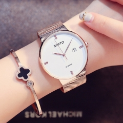 Women Watches Elegant Minimalism Rhinestone Casual Black Female Waterproof Clock gold white one size