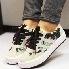 Women casual shoes printed casual shoes women canvas shoes new arrival fashion sneakers black uk5.5