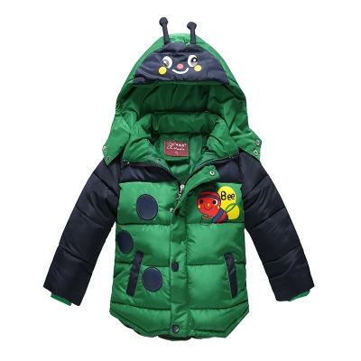 8e02c468e6f5 Baby Boys Jacket Winter Jacket For Boys Bees Hooded Down Jacket Warm ...