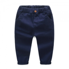 Boys Solid Pants Cotton Long Trousers Spring Autumn Children Baby Kids Clothing High Quality pants dark blue 90cm