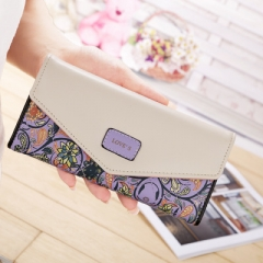 Wallet for women wallets purse dollar price printing designer purses card holder coin bag female purple one size