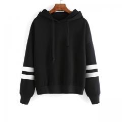 Fashion Elegant Autumn Hooded Sweatshirt Embroidery Flower Long Sleeve Pullover Streetwear Hoodies black m