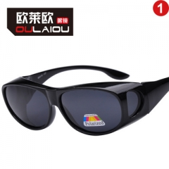 2018 Unisex Square Vintage Polarized Sunglasses Polaroid Women Rivets Retro Sun glasses black one size